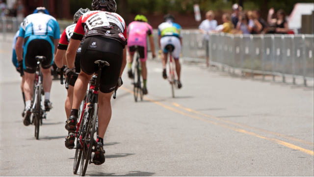 An image of cyclists wearing spandex athletic clothing