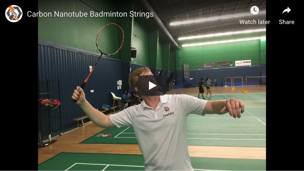 Carbon Nanotube Badminton Strings In Action